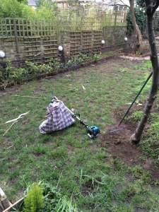 Turfing in Highbury East N5 before - Ivan and Sons North London Gardeners